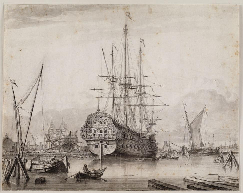 The warship Zantvoort